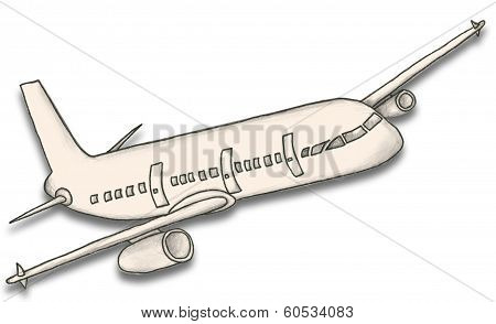 Paper Plane With Clipping Path