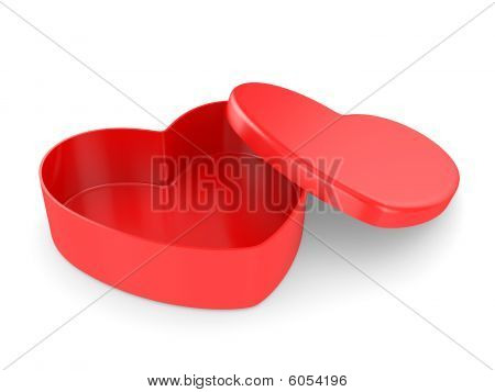 Empty Box In The Form Of Heart