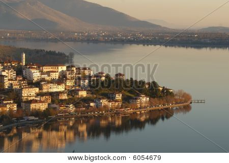 Kastoria city view from above Macedonia Greece