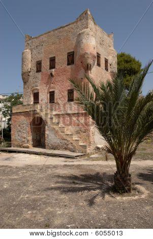 Markello 's tower view Aegina island in Greece