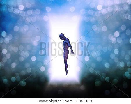 Figure In Door Way Of Light