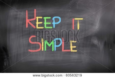 Keep It Simple Concept