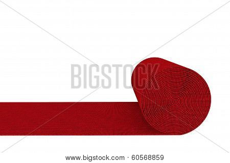Unrolled Red Carpet