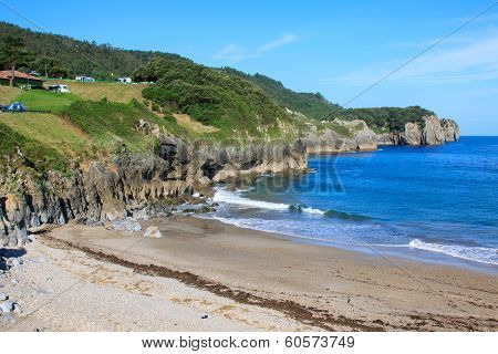 Beach of Pechon Cantabria Spain.