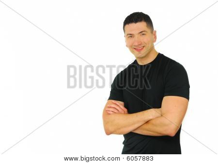 Athletic Man Smiling