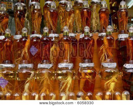 Ginseng Jars Closeup
