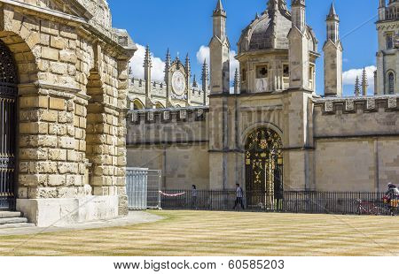 Ornamental Entrance To All Soul's College, Oxford, England