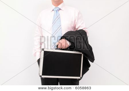 Businessman and briefcase
