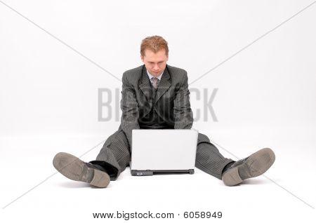 Businessman using a computer