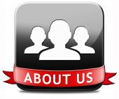About us button our business or working team members icon poster