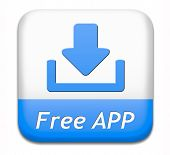 Free app button or gratis apps icon download sign or label  poster
