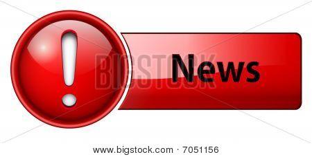 News icon, button