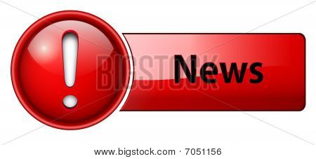 Noticias icono, botón