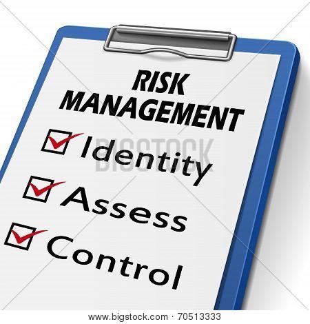 Risk Management Clipboard