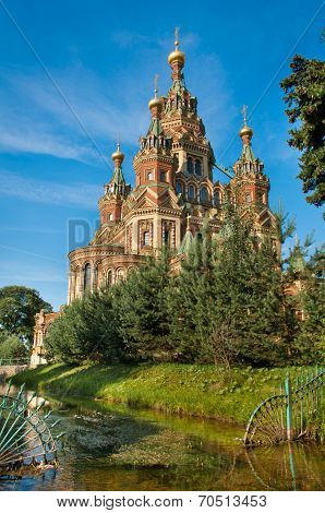 Sts Peter and Paul cathedral, Petergof, St Petersburg, Russia