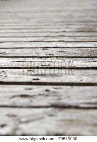 Surface Of Plank Pier