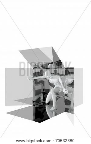 Person Coming Out Of A Box