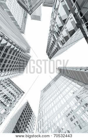 Skyscrapers And Office Buildings Perspective