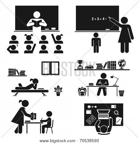 Back to school. Vector set. School children. Back to school. Vector set. School children.