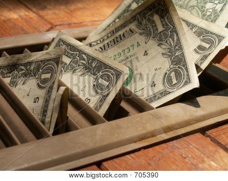 Money In Heating Vent