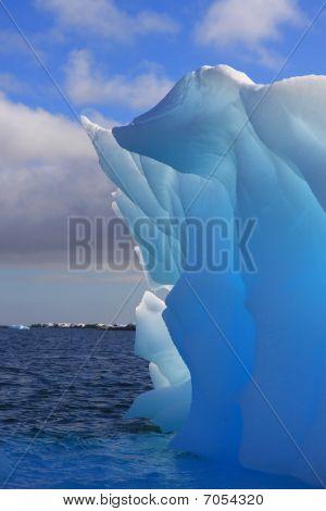 Unbelievable azure iceberg in Antarctica