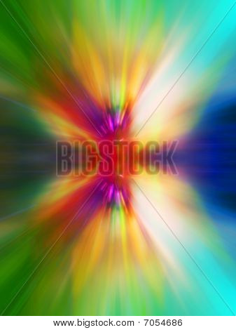 Abstract Colourful Explosion Background