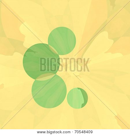 Abstract Art Delicate Cream Floral Background