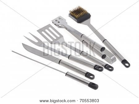Set of BBQ tools. Isolated on a white background.
