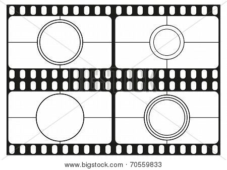 Film countdown templates, movie theater frame