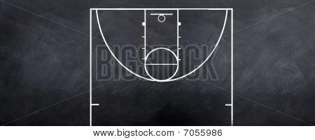 Basektball Court Sketch