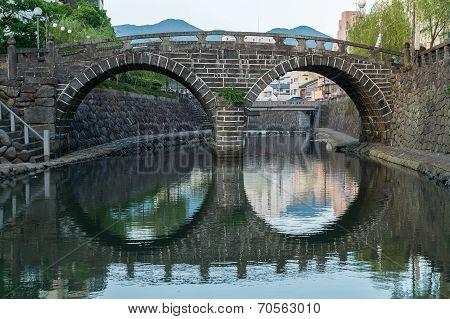 Meganebashi (Spectacles Bridge) in Nagasaki, Japan