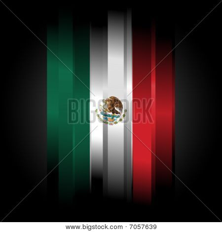 Abstract Flag Of Mexico On Black Background
