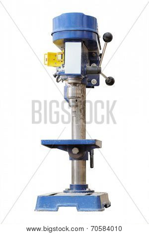 The image of a driller isolated under the white background