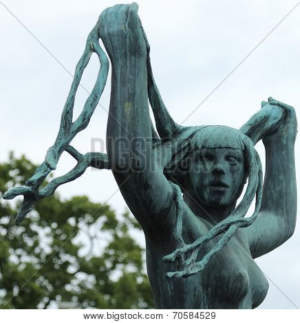 Naked Woman Statue, Frogner Park, Oslo