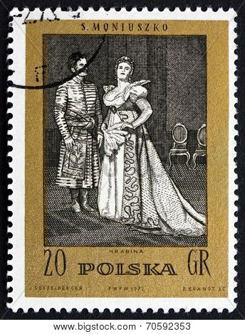 Postage Stamp Poland 1972 The Countess, An Opera By Moniuszko