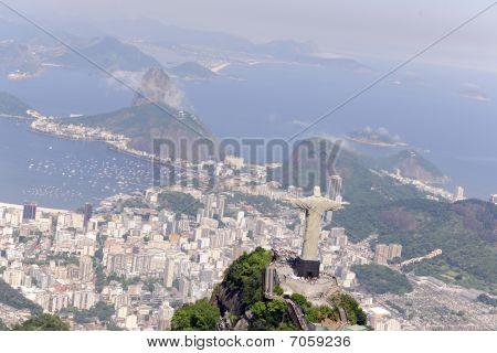 Christ Redeemer And Sugarloaf In Rio De Janeiro