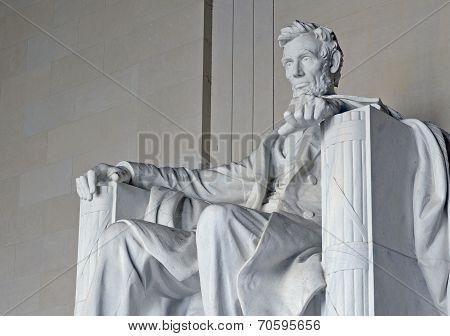 Abraham Lincoln Statue, Lincoln Memorial, Washington DC, USA