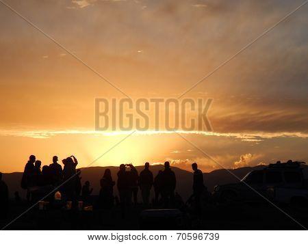 People Sunset