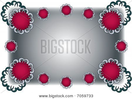 Red Grey Fancy Frame Background