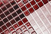 ceramic mosaic tiles in burgundy red colour poster