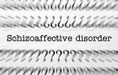 Close up of Schizoaffective disorder text with questionmarks poster