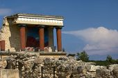 Reconstructed Temple at the Palace of Knossos on the Island of Crete Greece poster