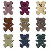nice scrapbook teddy bears on white background vector illustration poster