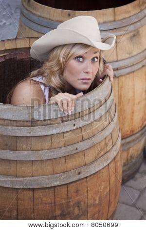 Girl In A Barrel