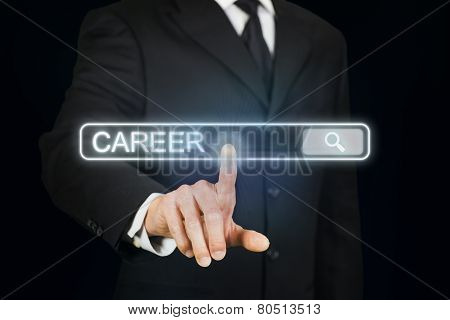 Businessman searching for career