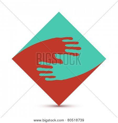 yin yang hand print poster