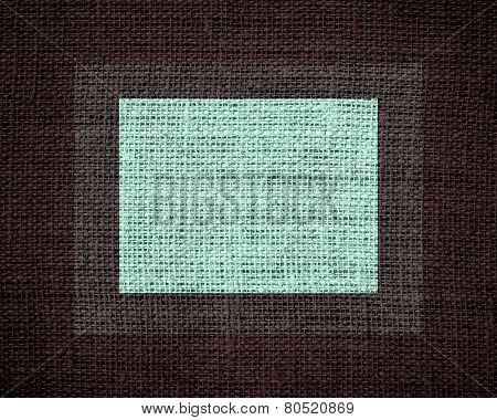 Burlap linen jute textured on dark background poster