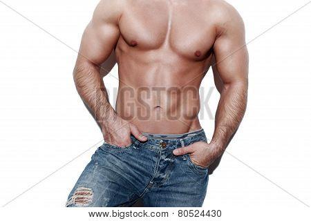 Sexy Muscular Man Body