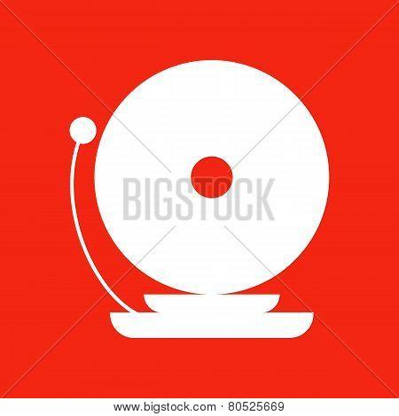 Fire Alarm Icon. Isolated illustration