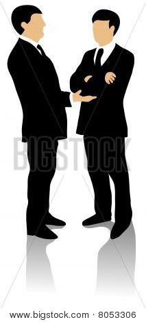 Business men in conversation